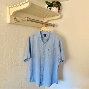 US Polo Assn Short Sleeve Blue Button-Up